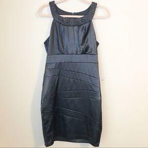 Bisou Bisou Beaded Neckline Sheath Dress